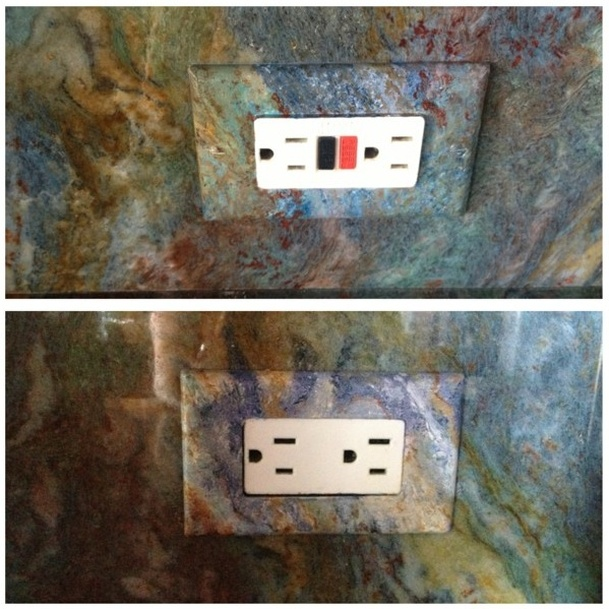 Faux painted switch plates