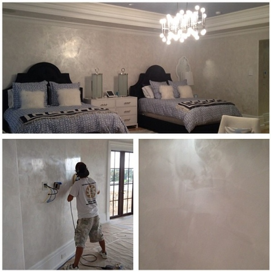 Venetian plaster installation in Florida keys homes