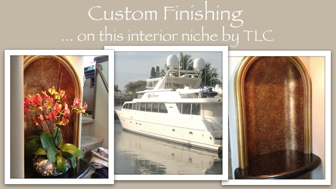 South Florida Painting Contractors custom painting on boat interior