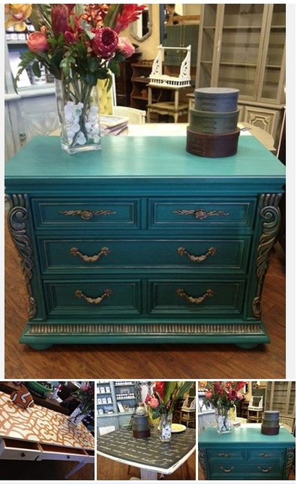 Painted transformed furniture