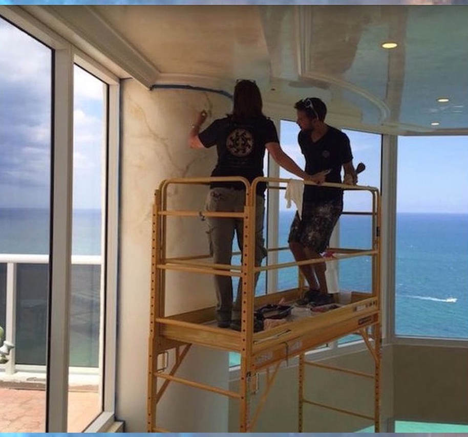 Faux painting in Sunny Isles faux finish painters